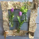 DIY voorjaarsbloemen in een lijstje