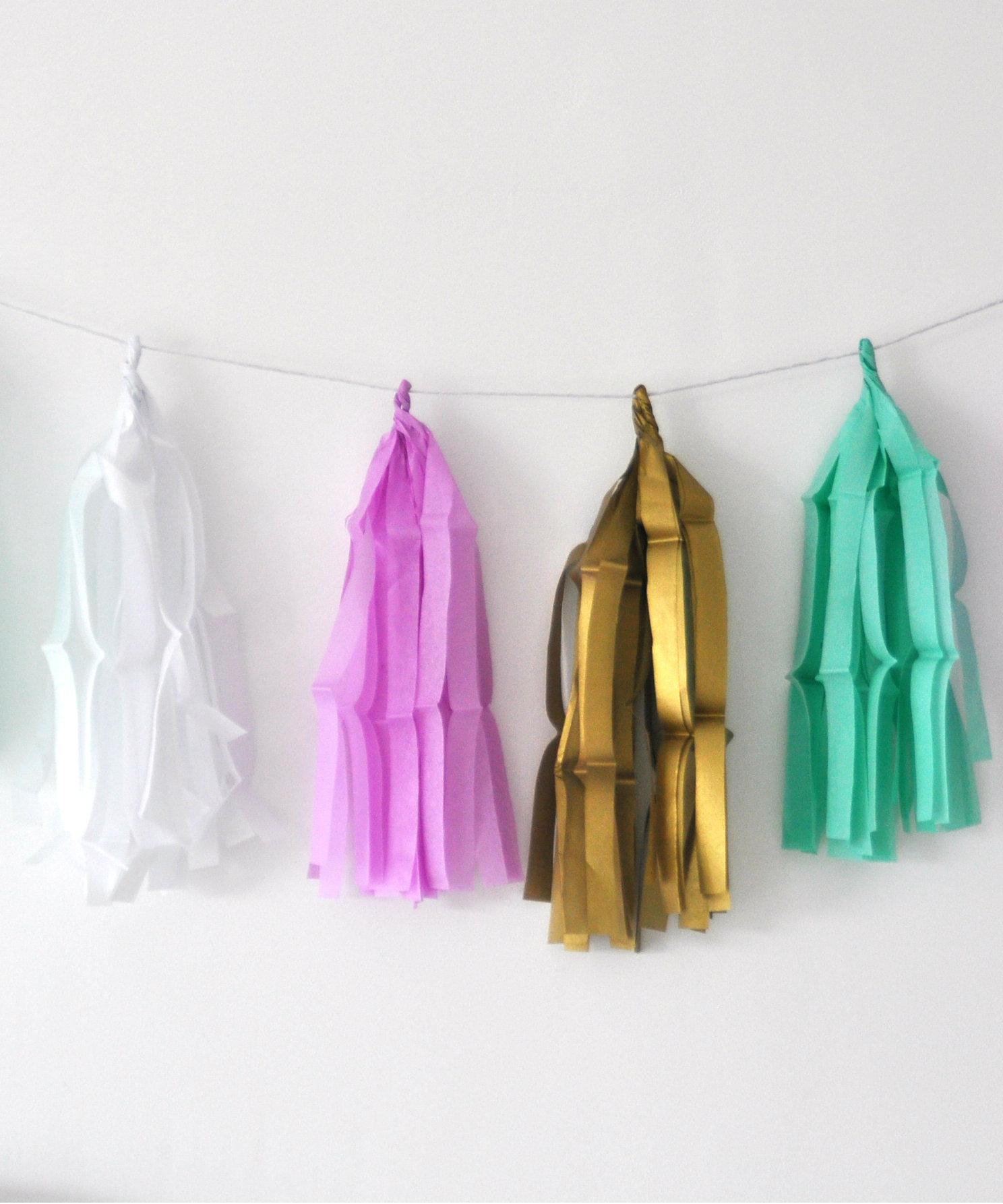 Voorkeur Zelf een slinger maken: tassel garland DIY @FD82