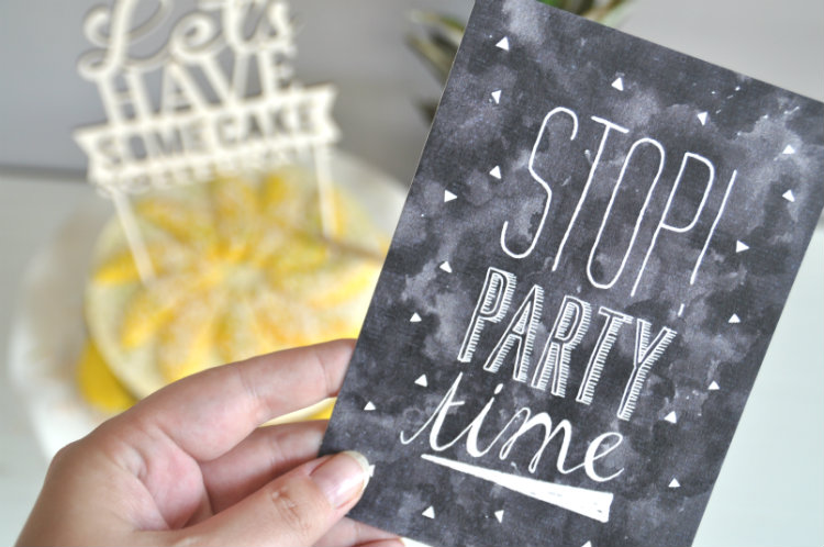 Uitnodiging - stop party time