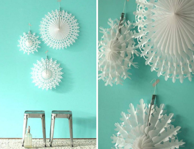 collage paper fans
