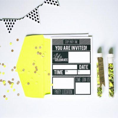 De leukste papieren uitnodigingen