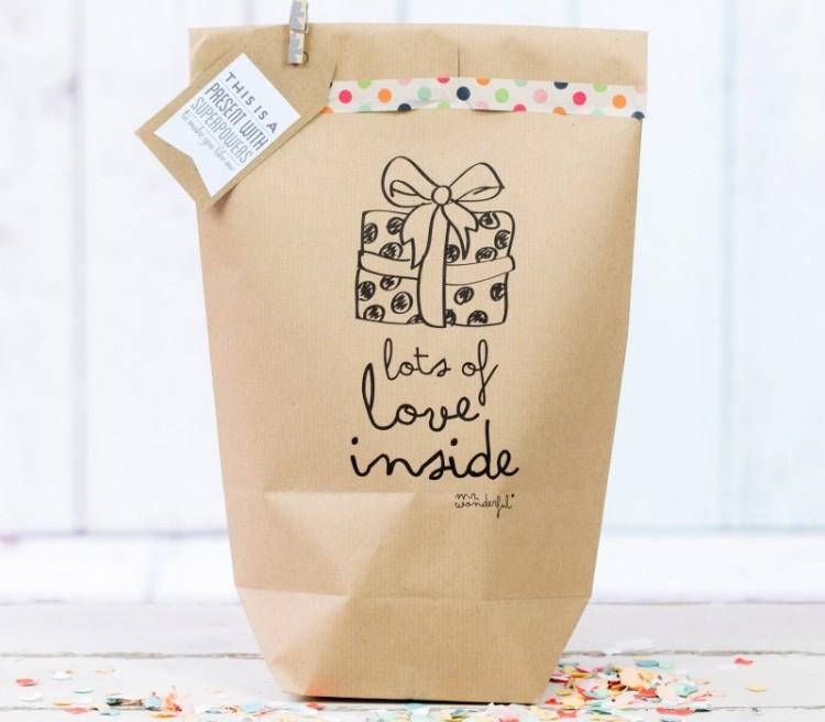 De leukste cadeautasjes cadeauzakjes for Bruine papieren vensterzakjes