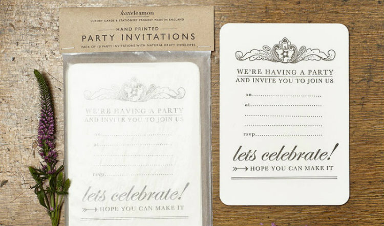 kaart uitnodiging feestje let's celebrate