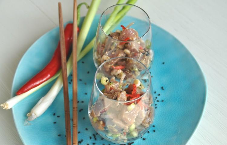 tuna poke hawaii recept