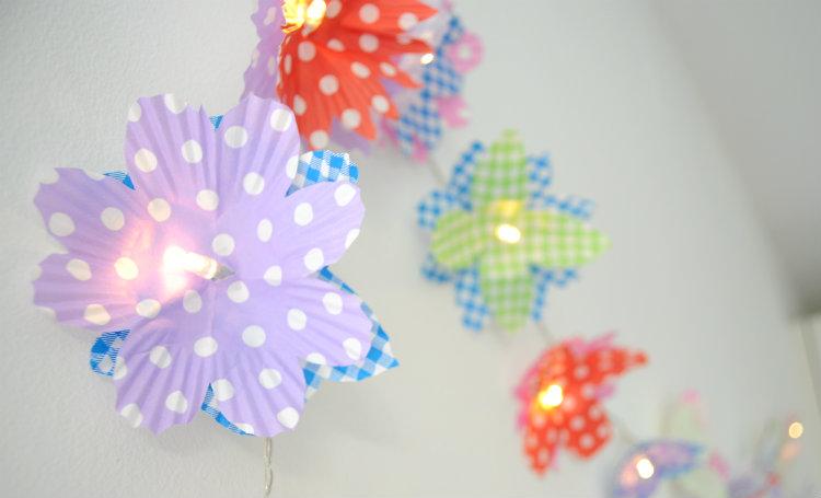 bloemenslinger lichtsnoer diy maken