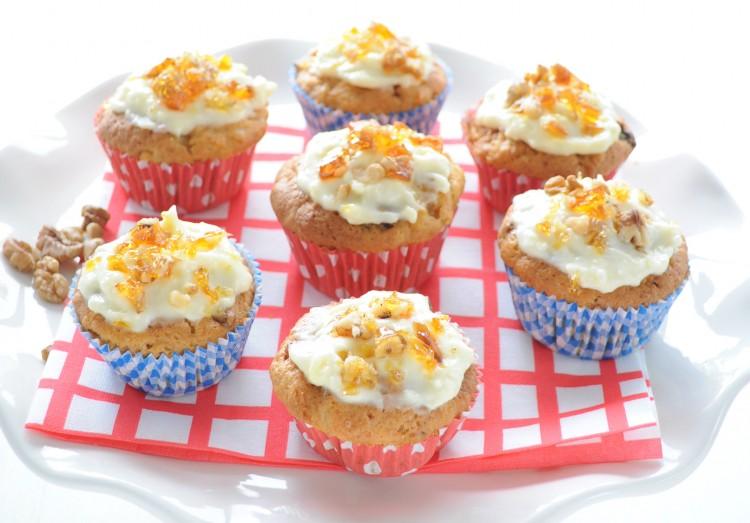 carrot cupcakes walnoten muffins recept