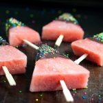 Gezonde ijsjes van watermeloen