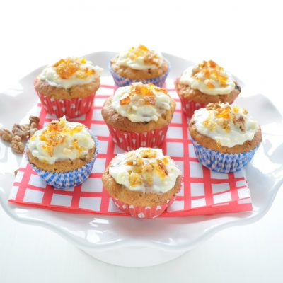 Recept: carrot cupcakes met walnootpraliné