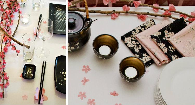 japanse tafel sushi feest