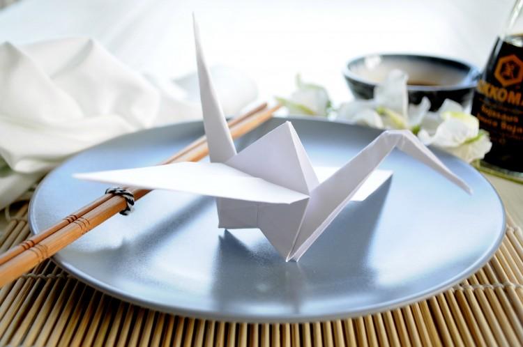 kraanvogel op het bord