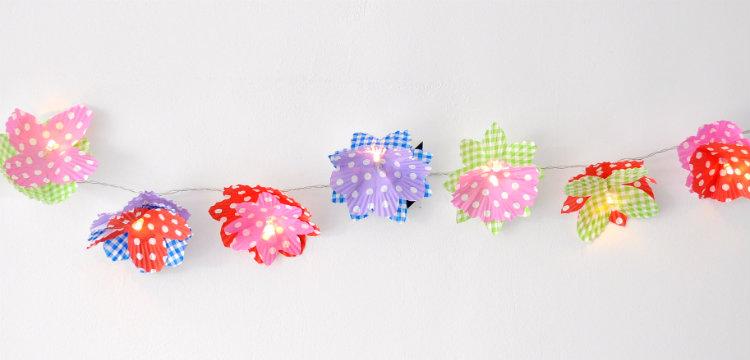 muffin vormpjes kerstlampjes slinger bloemen