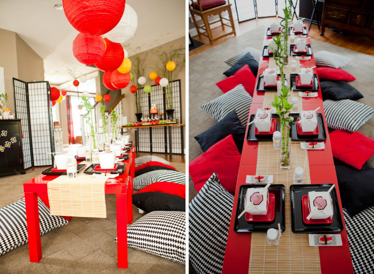 sushi theme party feest decoratie inspiratie