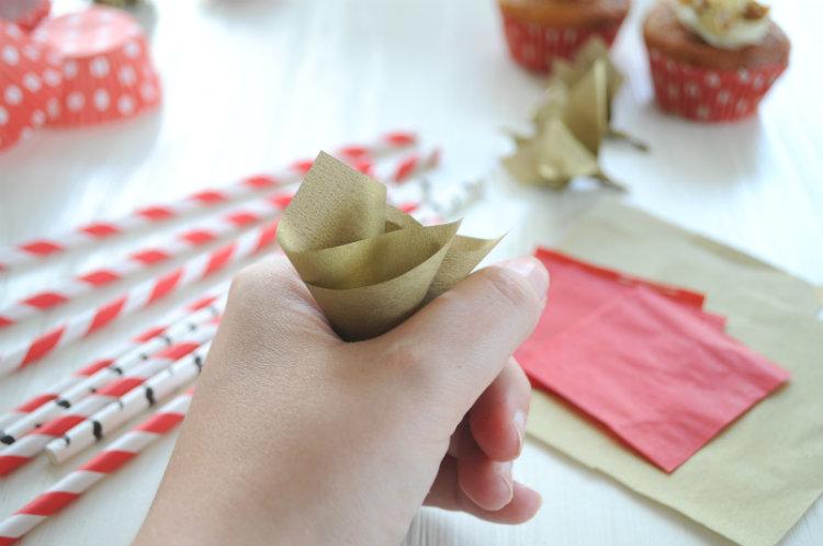 tissue paper zijdevloei cupcake toppers maken