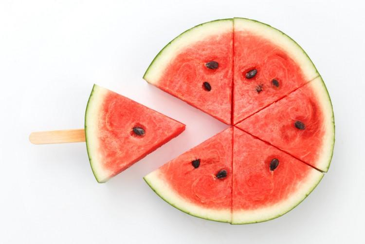 watermelon popsicle yummy fresh summer fruit sweet dessert white background