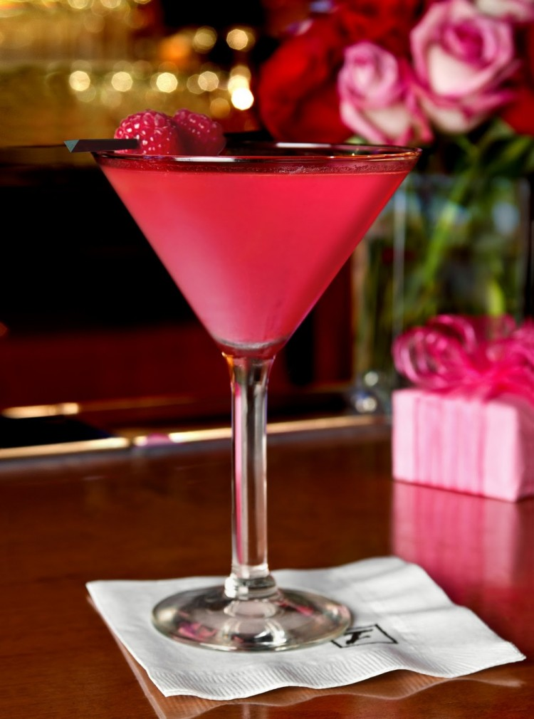 Fleming's Tickled Pink Valentine's Day Cocktail
