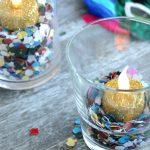 DIY glitterkaarsjes met confetti