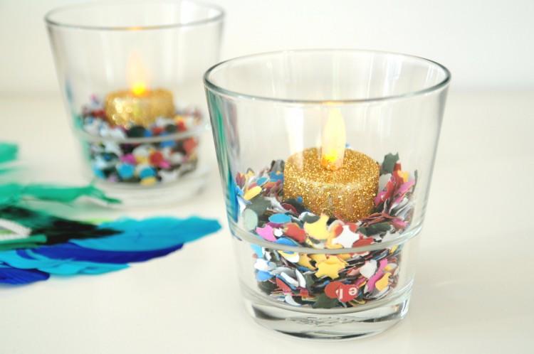 diy carnaval glaasjes glitter confetti