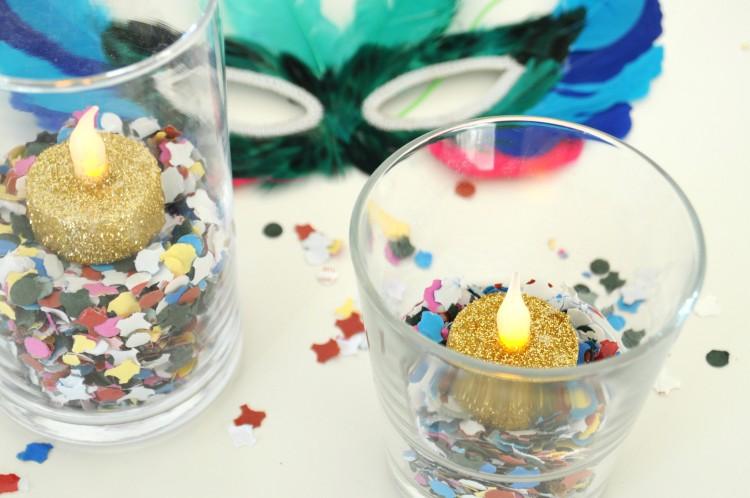 diy kaarsjes glitter en confetti