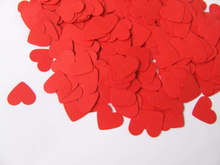 hartjes tafel confetti