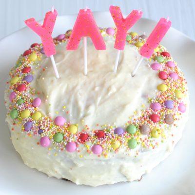 YAY! Citroencake met confetti