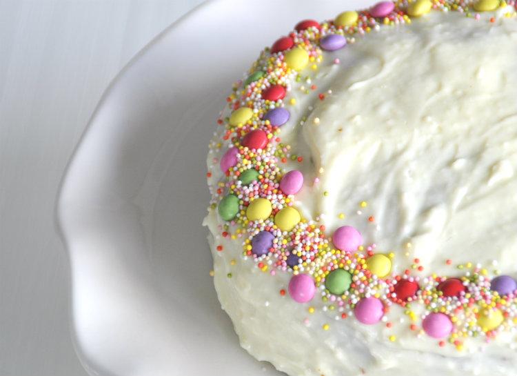confetti cake recept