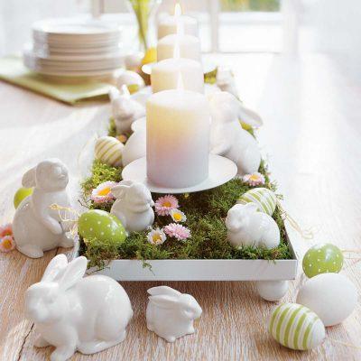 Tafel versieren voor Pasen