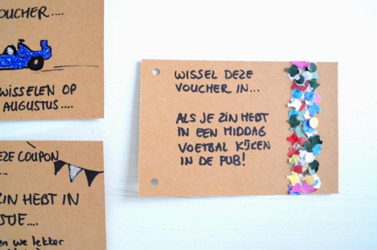 voucher confetti maken waardebon