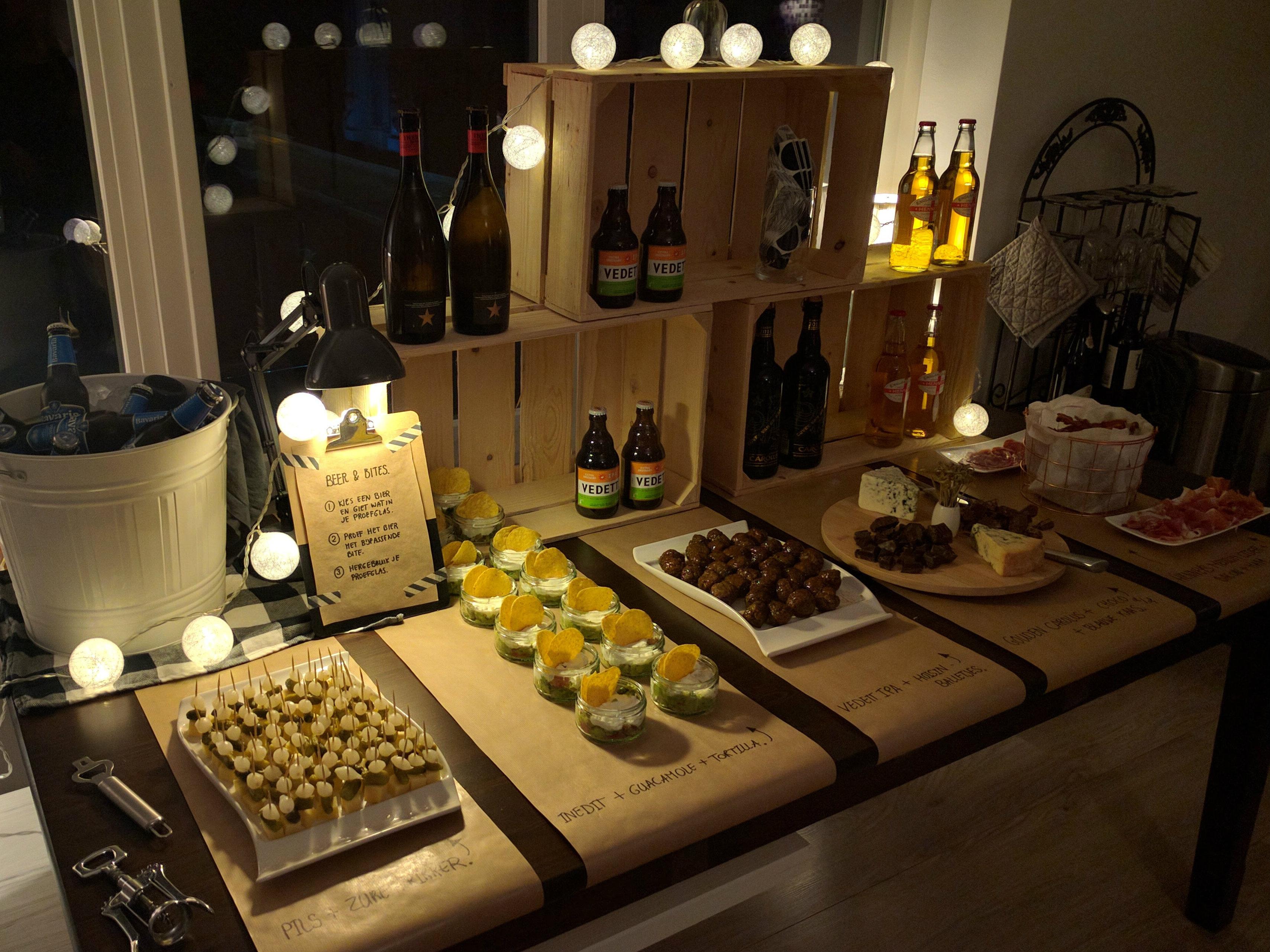 bierproeverij organiseren met snacks