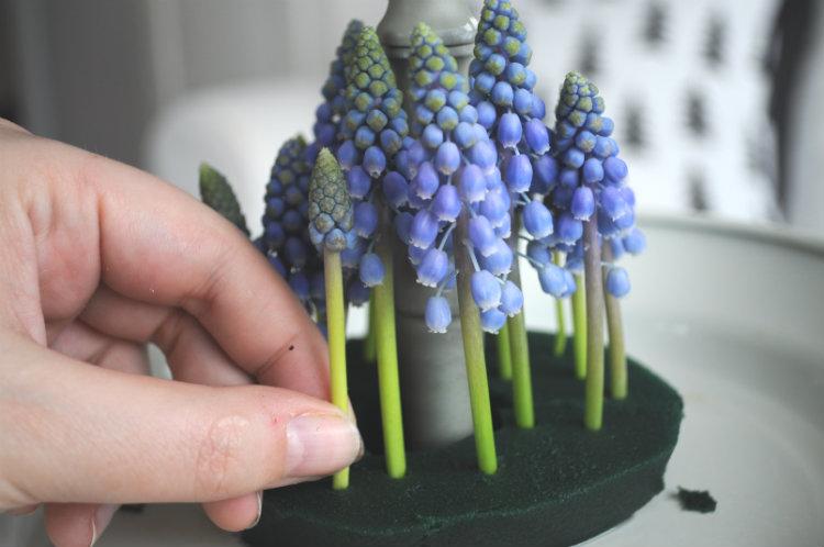 bos van blauwe druifjes maken