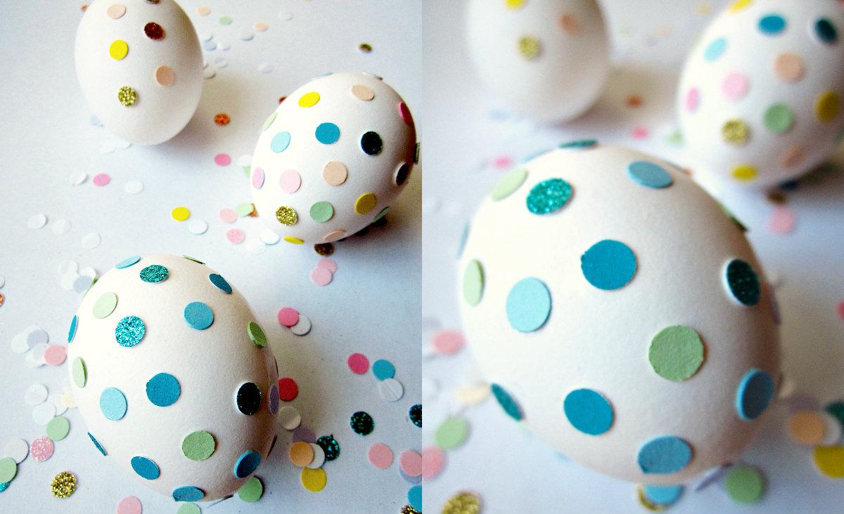 collage paaseieren confetti
