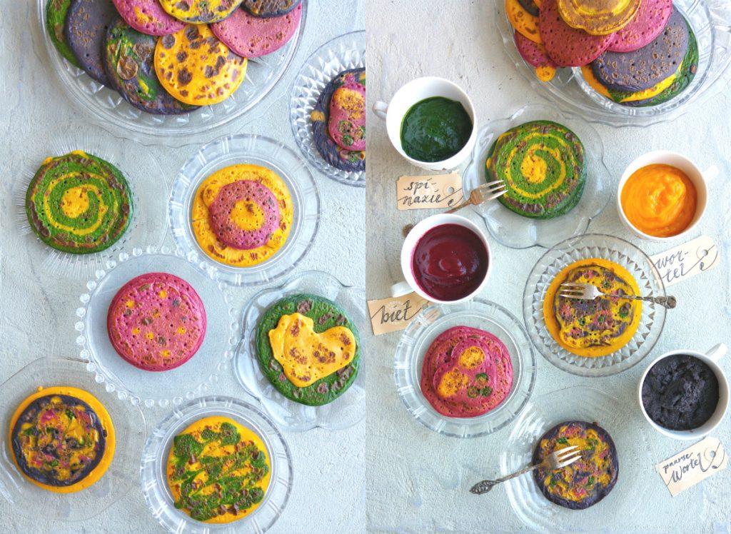 collage regenboogpannekoekjes pasen