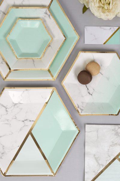 Marble fever: feestdecoratie met marmer effect