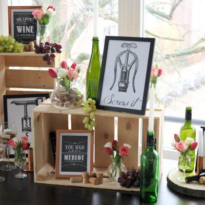 Wijnproeverij: ideetjes voor de versiering
