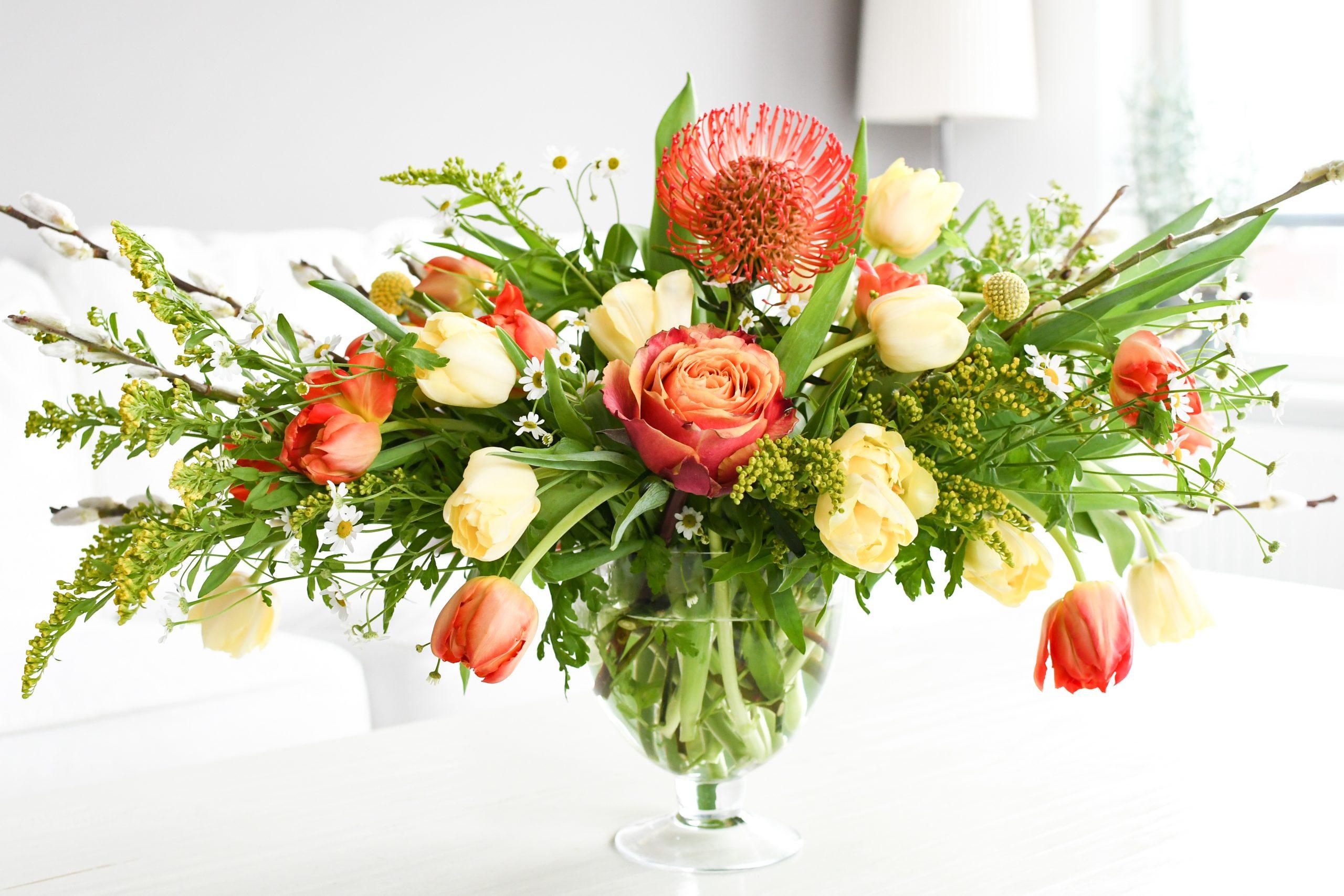 voorjaarsboeket met tulpen