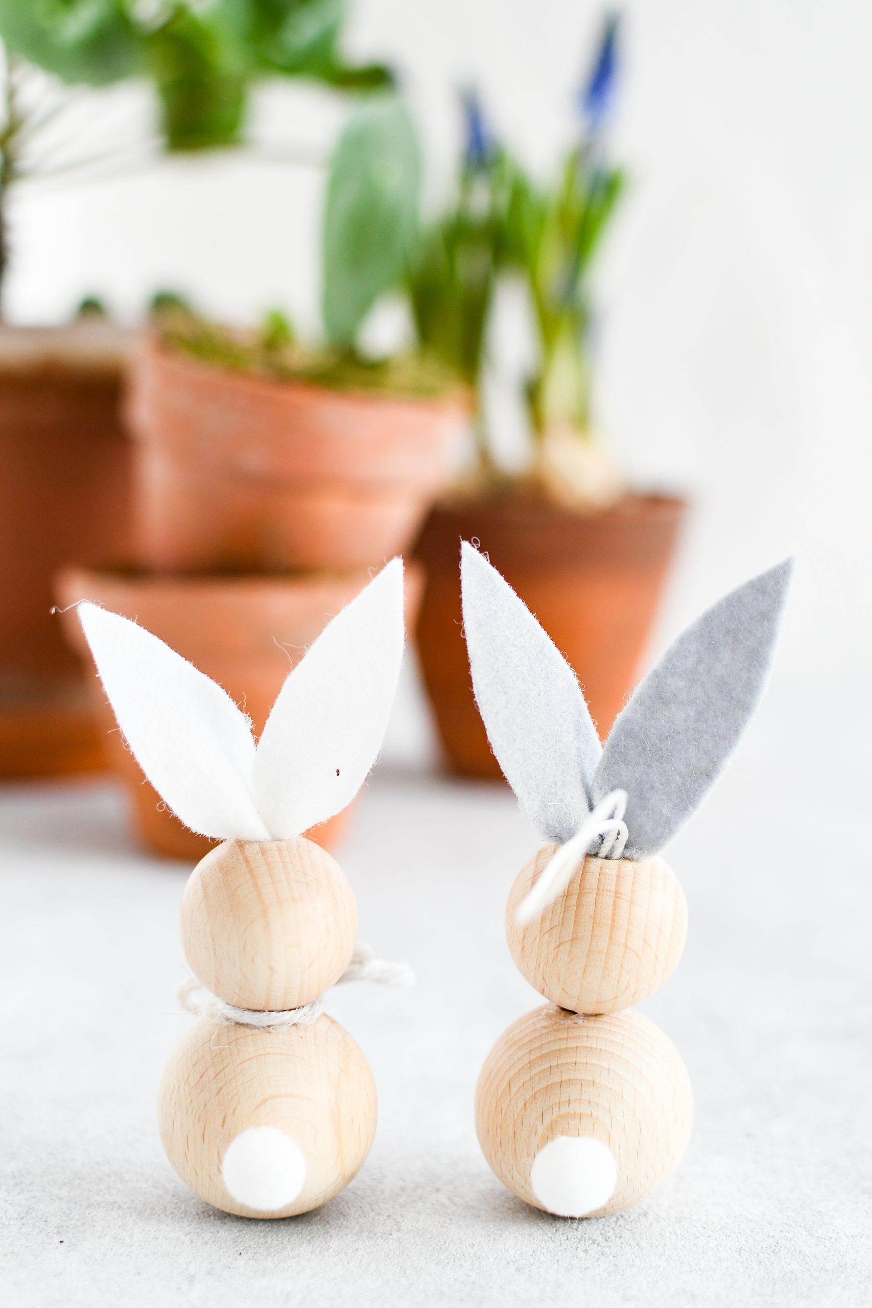 konijntjes van houten kralen