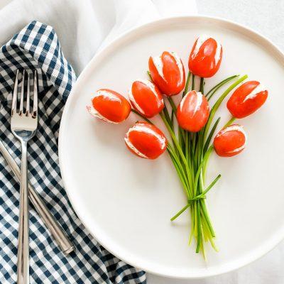 Boeketje tomatentulpen