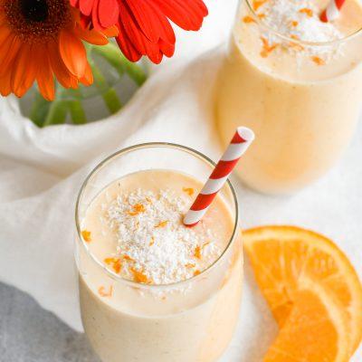 Tropische oranje smoothie (vegan)