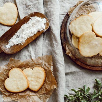 Heart shaped lemon cookies
