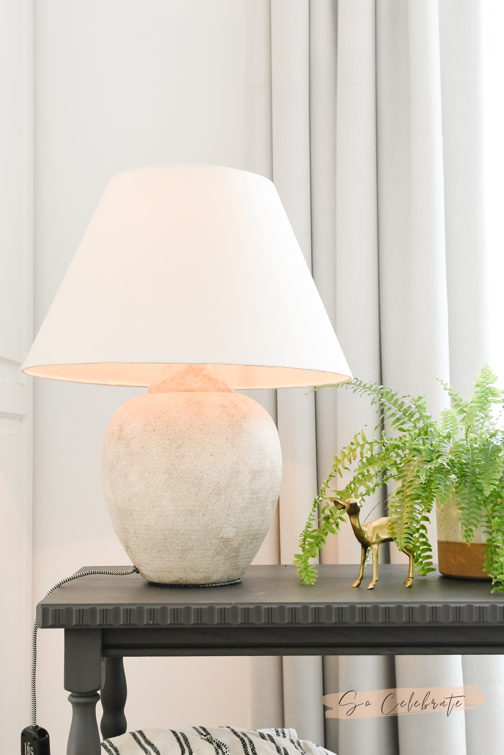 lamp make-over steen stijl dirt painting