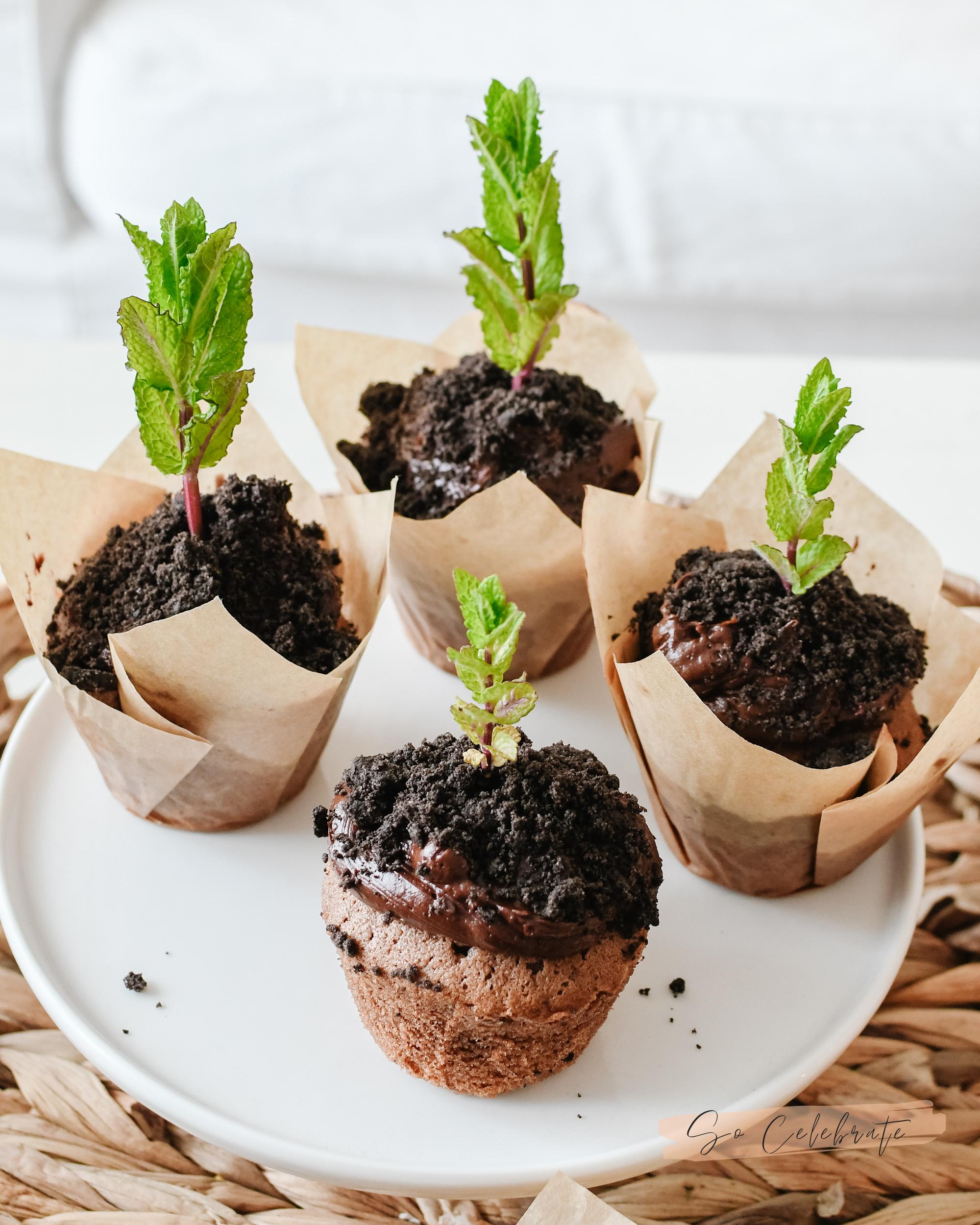 moestuin cupcakes chocolade & oreo