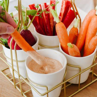 3x heerlijke snelle dipsausjes  voor groente & rauwkost
