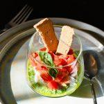 Italiaans voorgerecht met groentepesto (uit de moestuin)