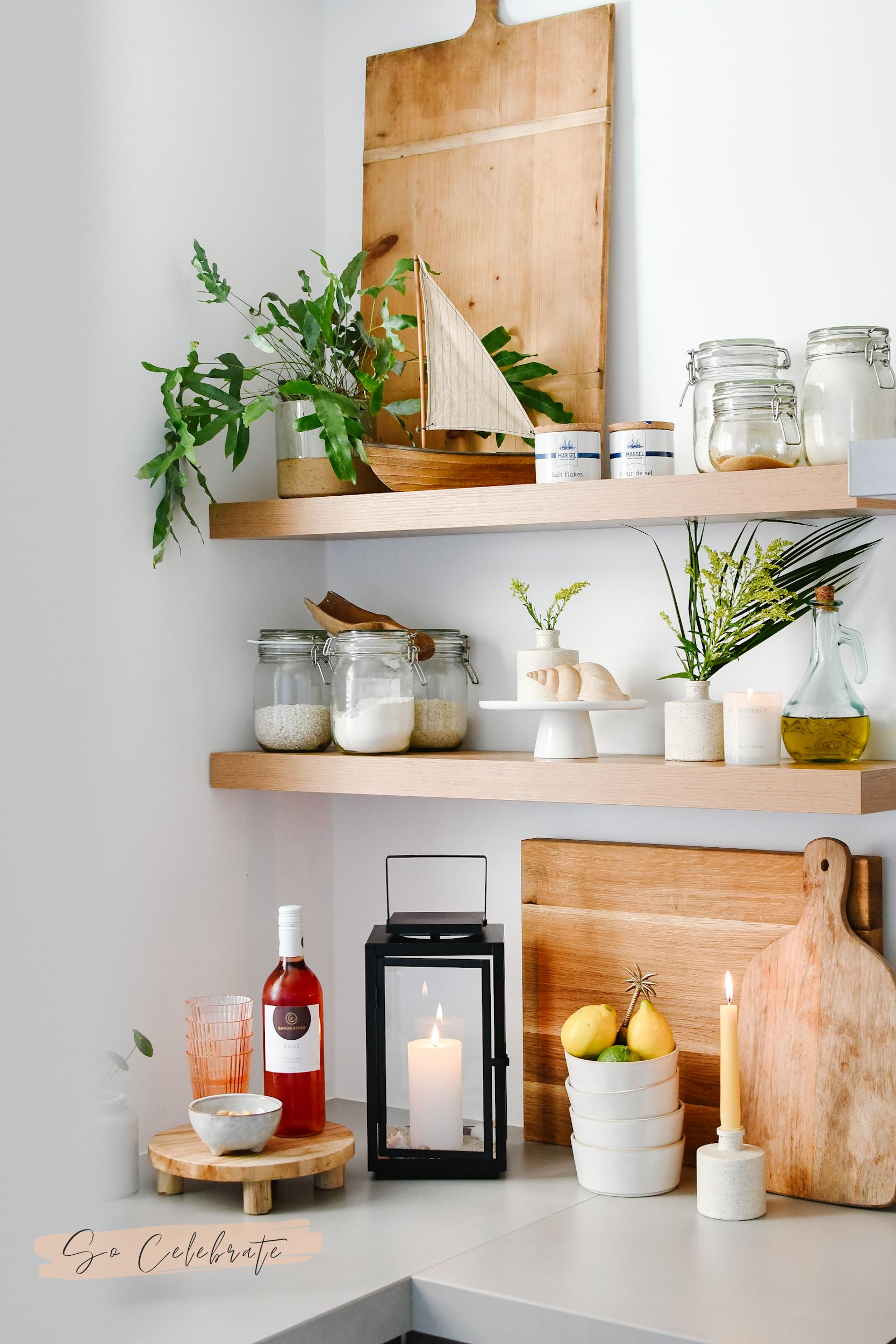 zomer decoratie in de keuken