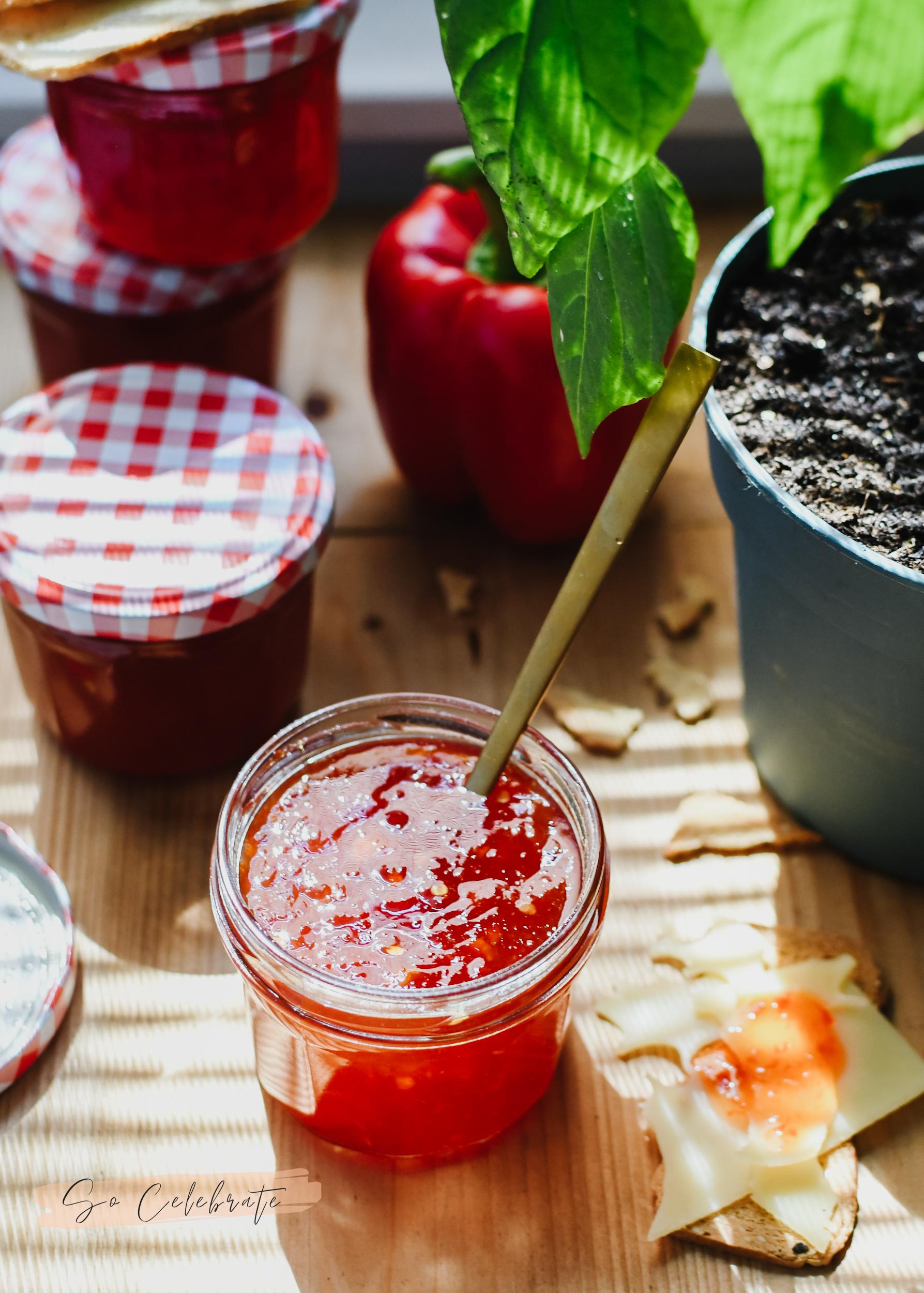 chili jam pepers en paprika