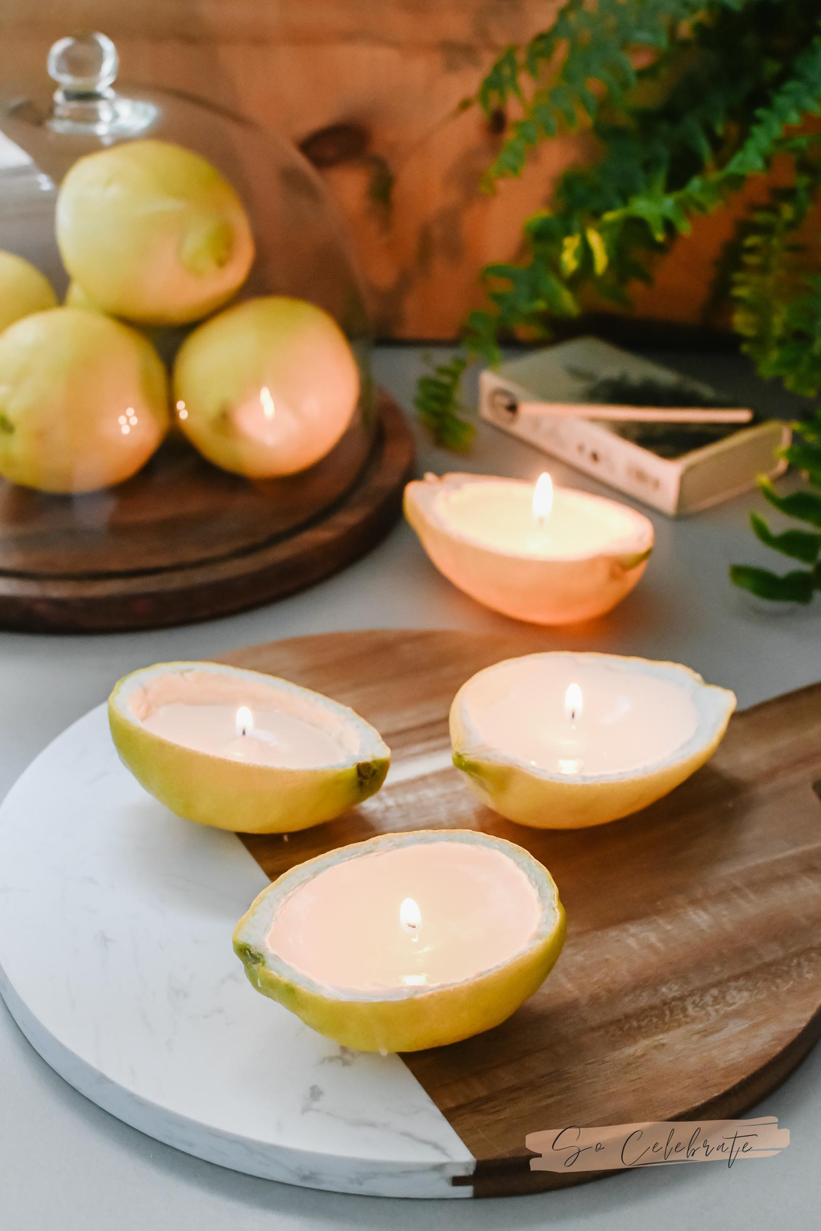 kaarsen maken van citroenen
